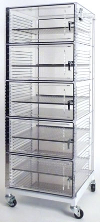 Acrylic desiccator storage cabinets high density storage for Acrylic kitchen cabinets cost