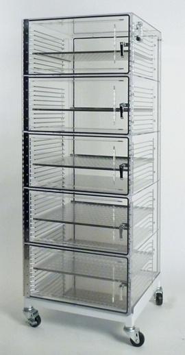 5 door acrylic desiccator