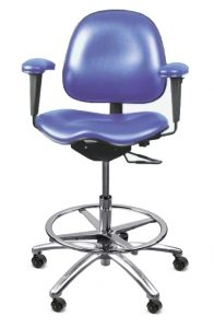 saddle seat cleanroom chair